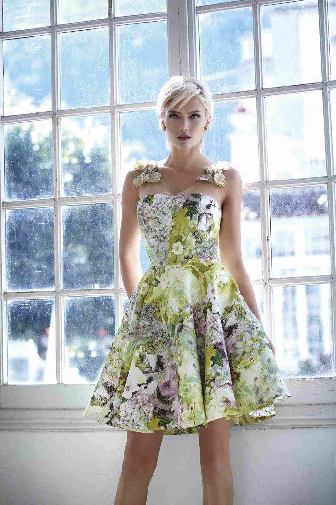Atelier Tsourani Φλόραλ φόρεμα